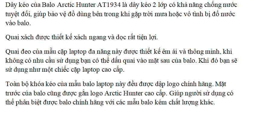 Balo Laptop Đa Năng Arctic Hunter AT1934